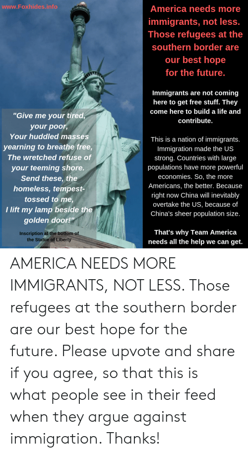 Wwwfoxhidesinfo America Needs More Immigrants Not Less Those