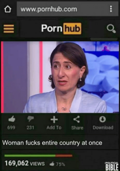 Pornhub, Bible, and Porn: www.pornhub.com  Porn hu  699 231 Add To Share Download  Woman fucks entire country at once  169,062 VIEWS  BIBLE  POLITICAL  75%