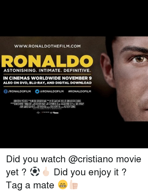 Wwwronaldothe Film Com Ronaldo Astonishing Intimate Definitive In