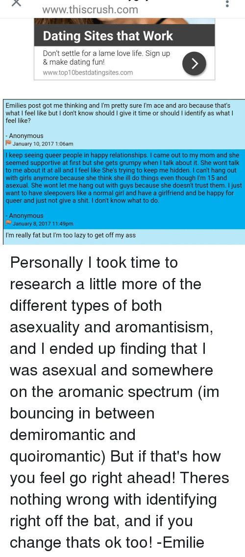 Dating an asexual girl