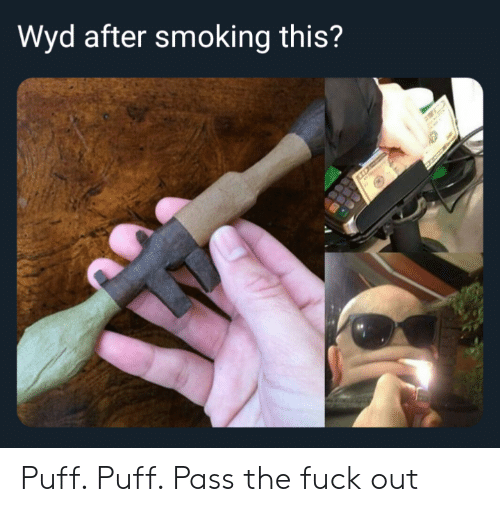 Reddit, Smoking, and Wyd: Wyd after smoking this? Puff. Puff. Pass the fuck out