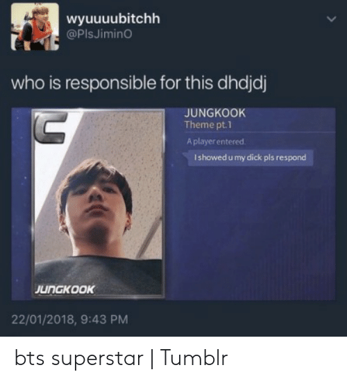 Wyuuuubitchh Who Is Responsible for This Dhdjdj JUNGKOOK