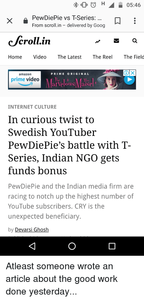 X 00 0546 PewDiePie vs T-Series From Scrollin - Delivered by