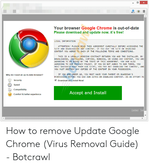 X a Your Browser Google Chrome Is Out-Of-Date Please