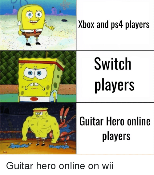 Xbox and Ps4 Players Switch Players Guitar Hero Online
