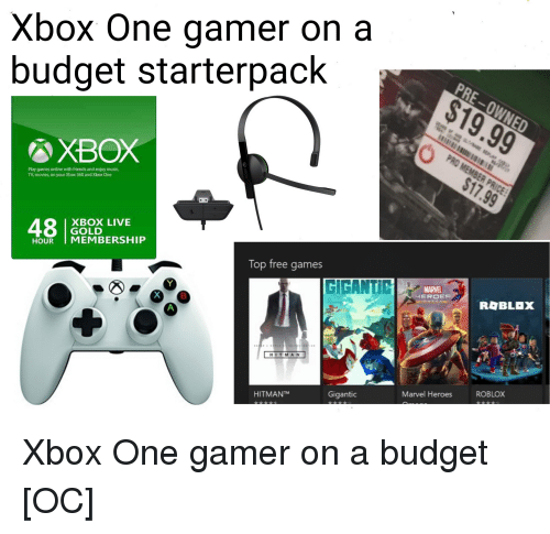 Xbox One Gamer on a Budget Starterpack XBOX Play Games Online With