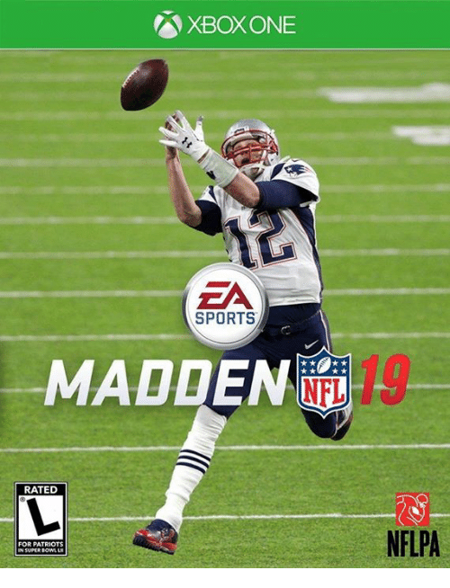 XBOX ONE ZA SPORTS MADDEN 19 RATED NFLPA FOR PATRIOTS N
