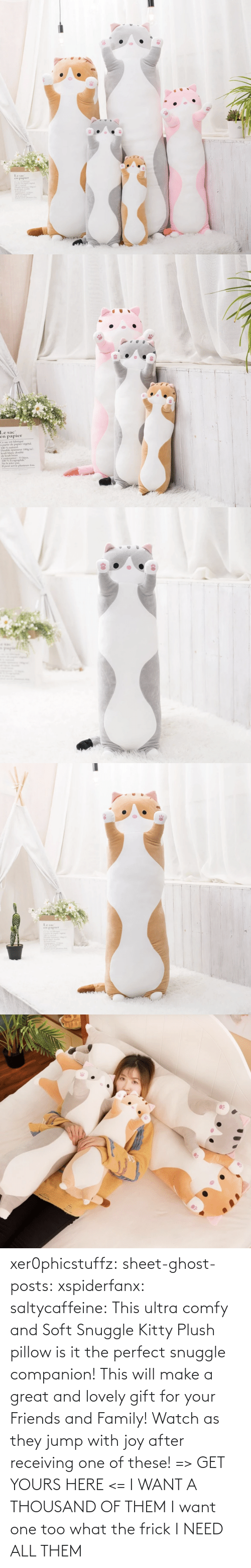 Family, Frick, and Friends: xer0phicstuffz: sheet-ghost-posts:  xspiderfanx:  saltycaffeine:  This ultra comfy and Soft Snuggle Kitty Plush pillow is it the perfect snuggle companion! This will make a great and lovely gift for your Friends and Family! Watch as they jump with joy after receiving one of these! => GET YOURS HERE <=    I WANT A THOUSAND OF THEM  I want one too what the frick    I NEED ALL THEM