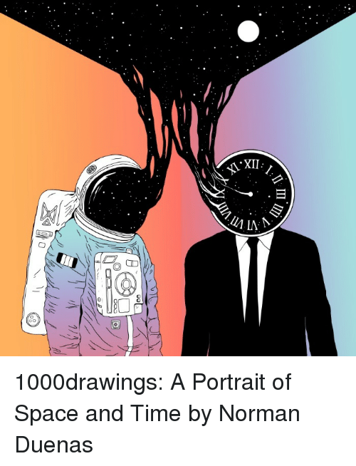 Xii 1000drawings A Portrait Of Space And Time By Norman Duenas