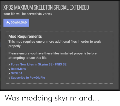 Skse64 Not Working Skyui