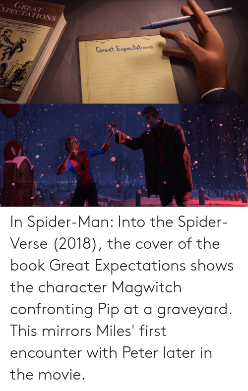 Spider Spiderman And Book Xpectations Great Expedtations In Man Into