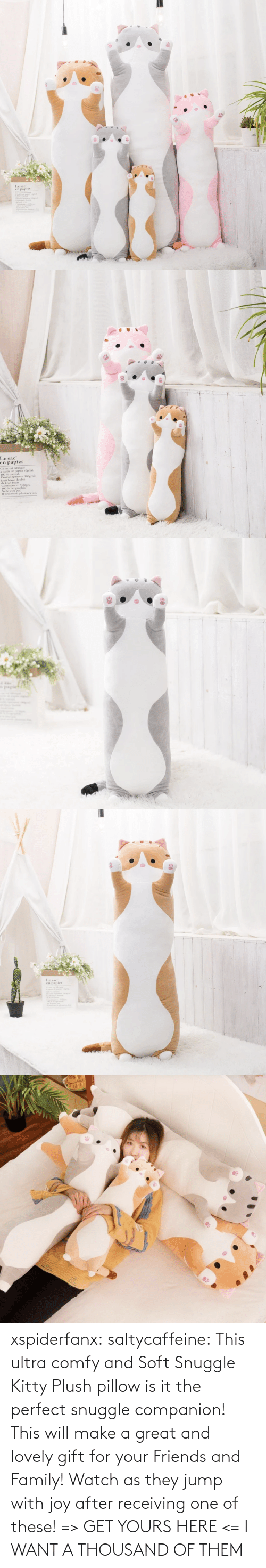 Family, Friends, and Tumblr: xspiderfanx:  saltycaffeine: This ultra comfy and Soft Snuggle Kitty Plush pillow is it the perfect snuggle companion! This will make a great and lovely gift for your Friends and Family! Watch as they jump with joy after receiving one of these! => GET YOURS HERE <=    I WANT A THOUSAND OF THEM