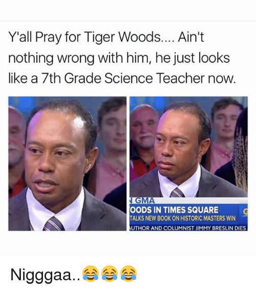 y all pray for tiger woods aint nothing wrong with 18302746 ✅ 25 best memes about tiger woods tiger woods memes