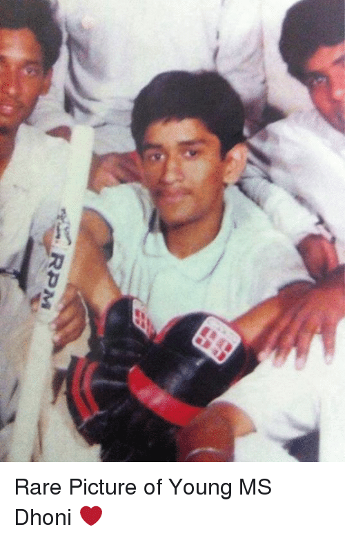Memes, 🤖, and Dhoni: 'Y. RPM Rare Picture of Young MS Dhoni ❤