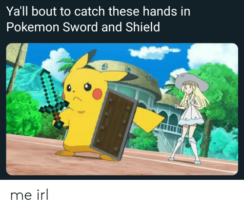 Yall Bout To Catch These Hands In Pokemon Sword And Shield Me Irl