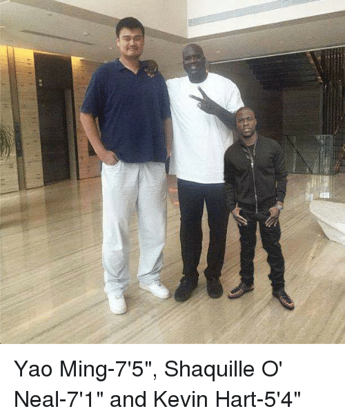 Kevin Hart, Yao Ming, and Shaquille