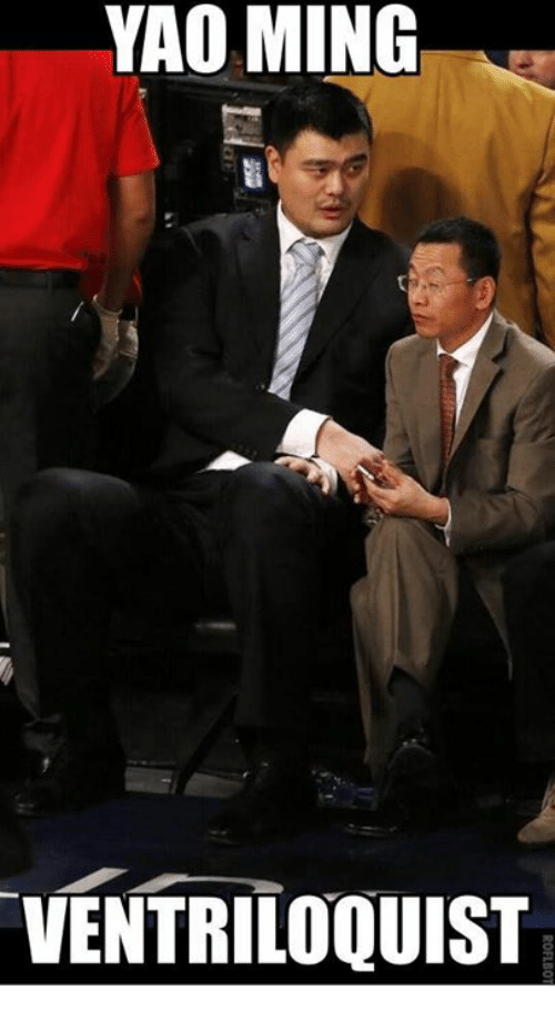 yao ming ventriloquist 18142219 ✅ 25 best memes about yao ming yao ming memes,Yao Ming Meme Png