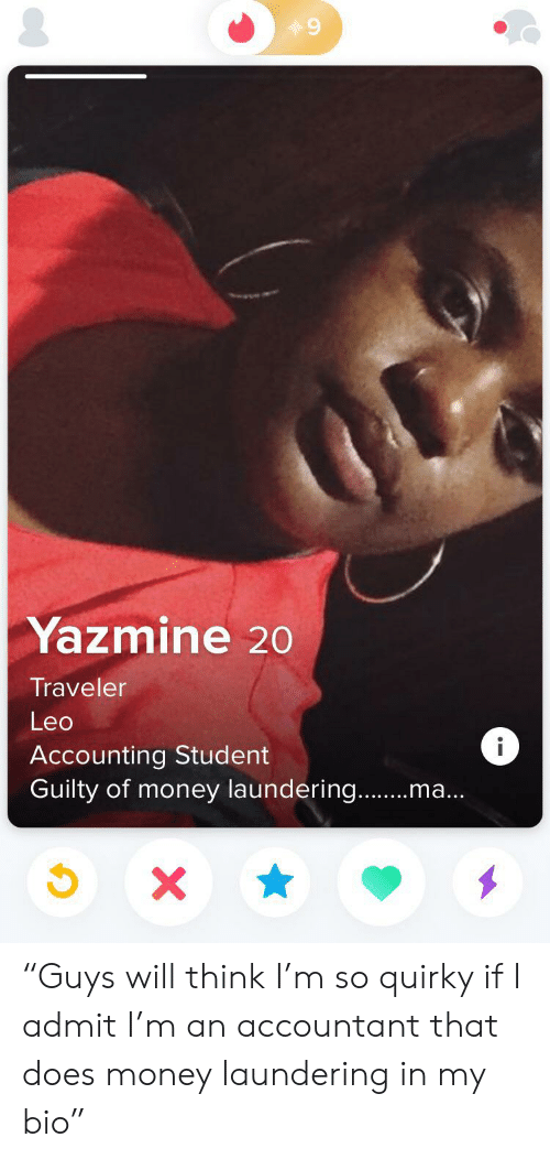 Yazmine Traveler Leo I Accounting Student Guilty of Money Laundering