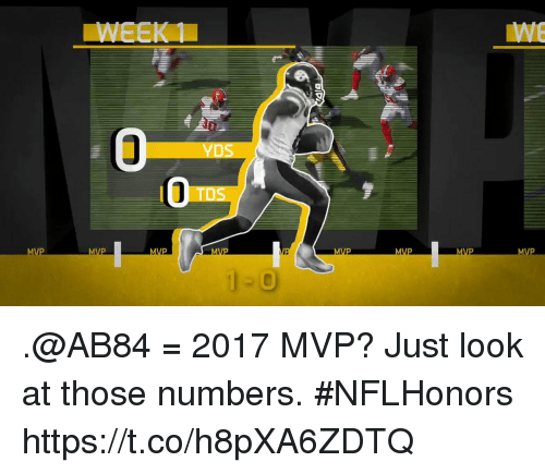 Memes, 🤖, and Mvp: YDS  TDS .@AB84 = 2017 MVP?  Just look at those numbers. #NFLHonors https://t.co/h8pXA6ZDTQ