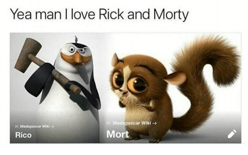 Yea Man L Love Rick and Morty in Madagascar Wiki → N
