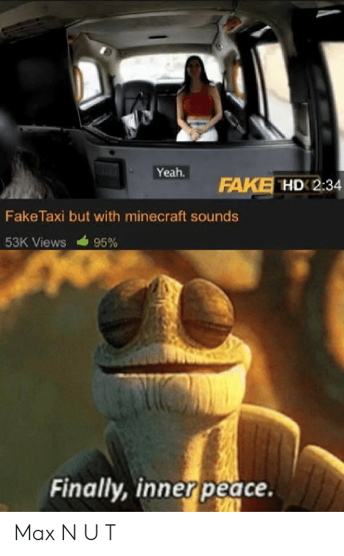 Yeah FAKE HD 234 FakeTaxi but With Minecraft Sounds 53K