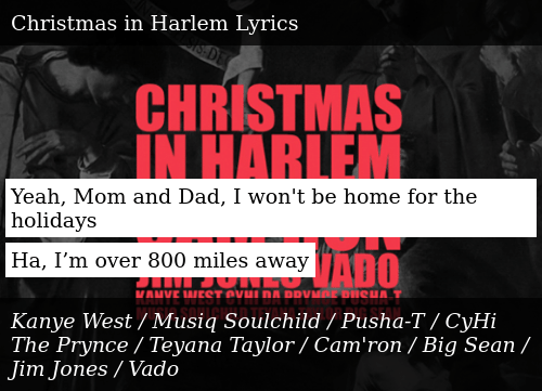 I Wont Be Home For Christmas Lyrics.Yeah Mom And Dad I Won T Be Home For The Holidays Ha I M