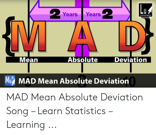 Years Years Learning Upgrade Deviation Absolute Mean M MAD Mean