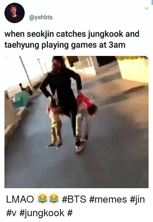 When Seokjin Catches Jungkook And Taehyung Playing Games At 3am