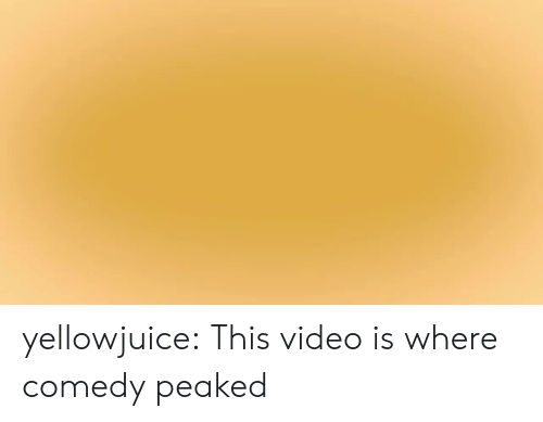 Target, Tumblr, and Blog: yellowjuice:  This video is where comedy peaked