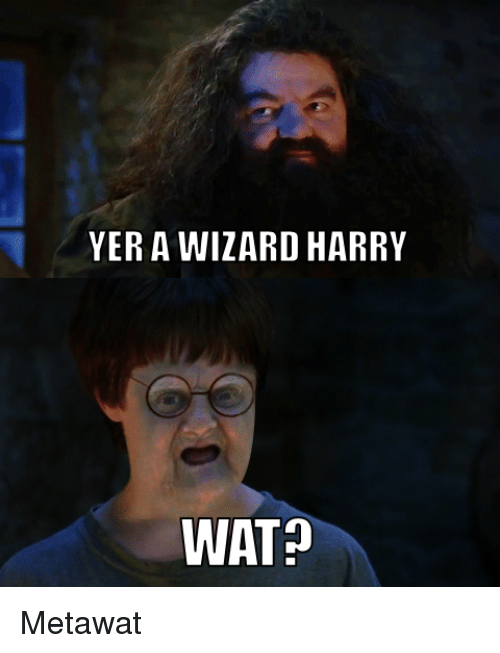 Reddit Wat And Wizards YER A WIZARD HARRY WAT Metawat