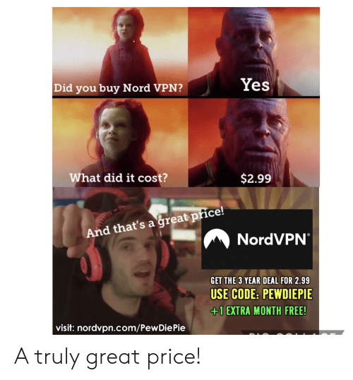 Yes Did You Buy Nord VPN? What Did It Cost? $299 and That's