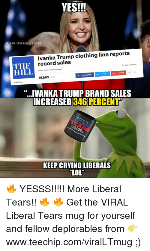 yes eb comiliberaliearsmug ivanka trump clothing line reports the record 15858231 yes!!! eb comiliberaliearsmug ivanka trump clothing line reports the