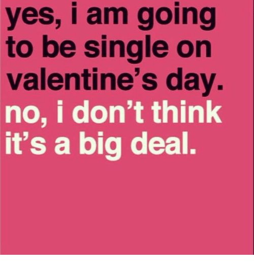 Valentineu0027s Day, Dank Memes, And Singles: Yes, I Am Going To Be