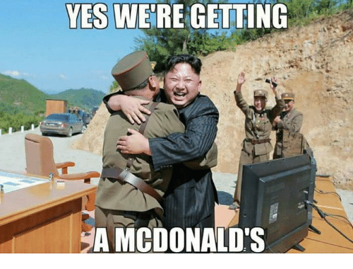 McDonalds, Yes, and Were: YES WE'RE GETTING  MCDONALD'S