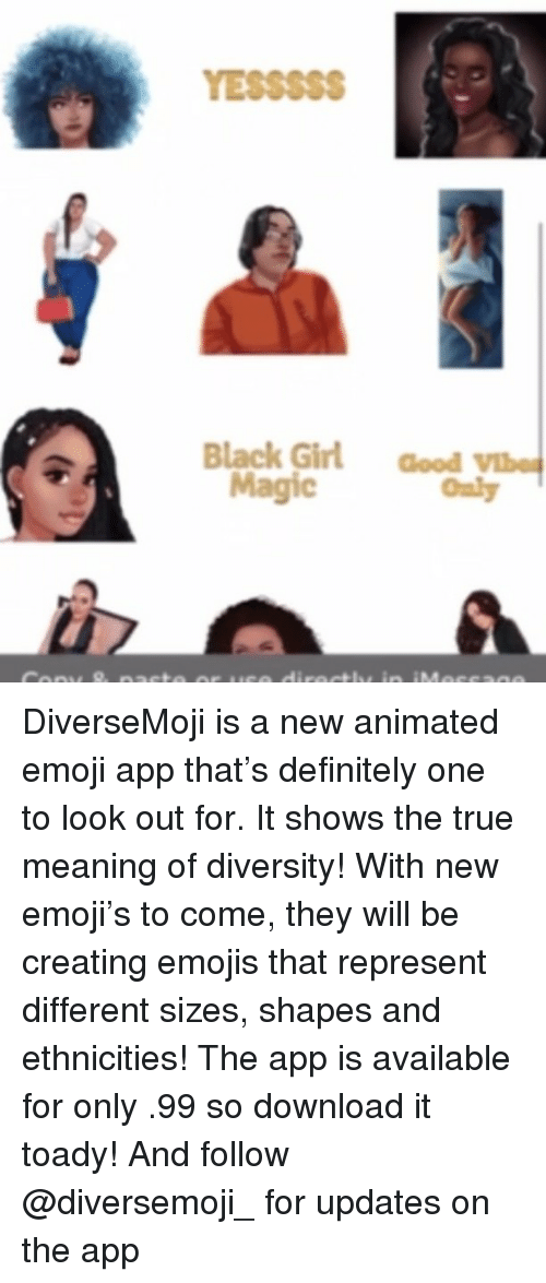YESSSSS Black Girl Good Magic Only DiverseMoji Is a New