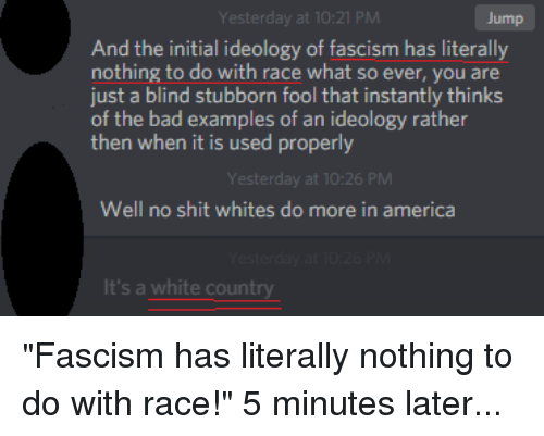 Yesterday At 1021 Pm Jump And The Initial Ideology Of Fascism Has