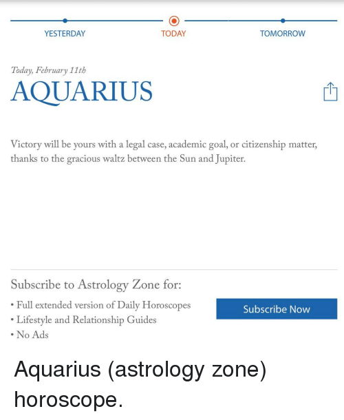 aquarius daily horoscope for yesterday today and tomorrow