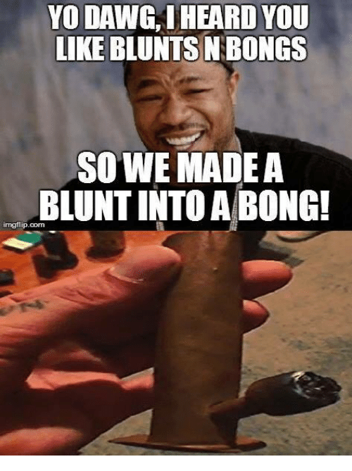 yo dawg i heard you like bluntsn bongs so we 17666508 ✅ 25 best memes about what you got on my 40 homie what you got,Sup Dawg Meme
