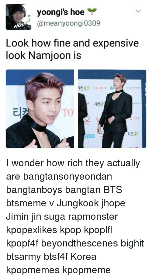 Yoongi's Hoe Look How Fine and Expensive Look Namjoon Is 斗켓링크