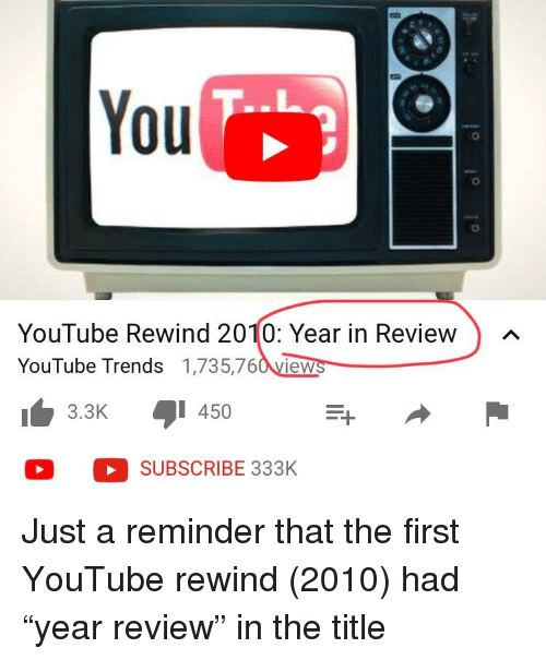 b3afeaf8c43 You 0 YouTube Rewind 2010 Year in Review YouTube Trends 1735760view ...