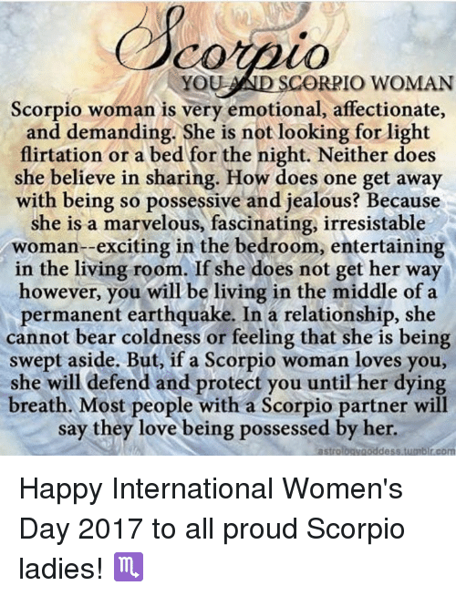 Scorpio woman likes and dislikes