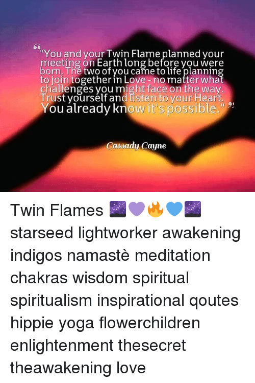 You and Your Twin Flame Planned Your Meeting on Earth Long Before
