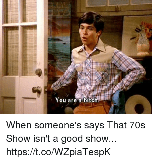 Bitch, Memes, and Good: You are a bitch When someone's says That 70s Show isn't a good show... https://t.co/WZpiaTespK