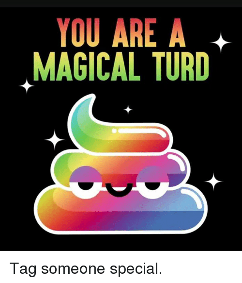 Memes, Tag Someone, and 🤖: YOU ARE A  MAGICAL TURD Tag someone special.