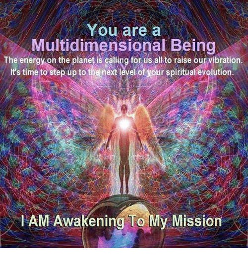 Fam, Memes, and Evolution: You are a  Multidimensional Being  The energy on the is calling for us to vibration.  t's time to step up to the nextlevelof your spiritual evolution.  FAM Awakening To  My Mission