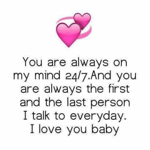 You are always on my mind love quotes