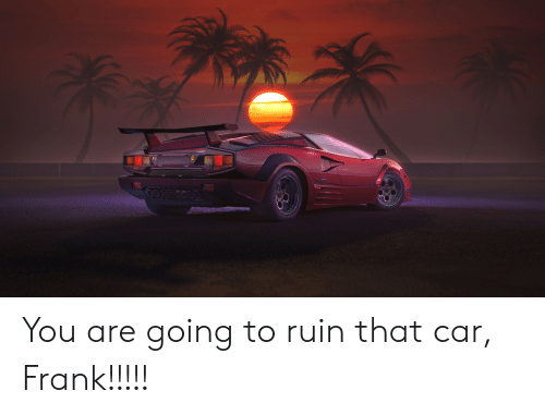 Car You And Frank Are Going To Ruin That