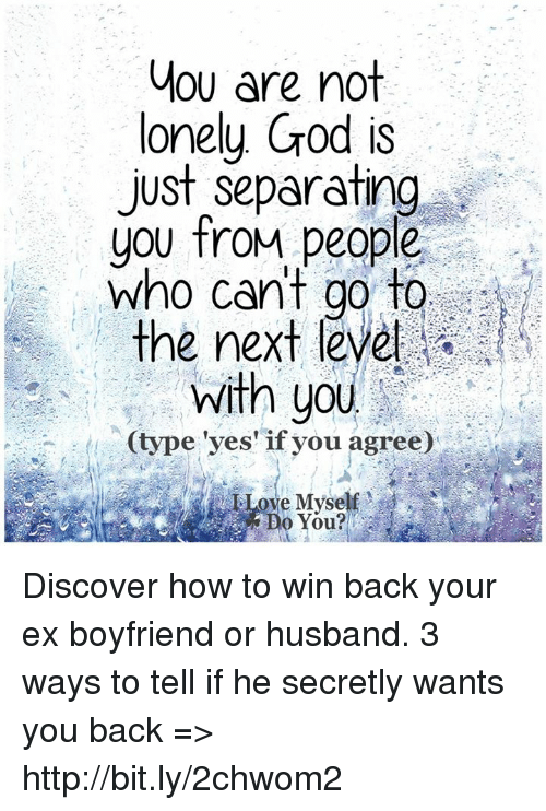 how to tell if your ex husband wants you back