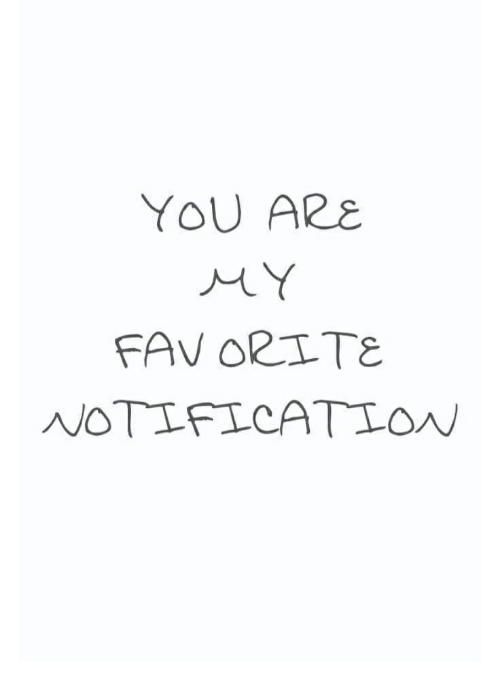 You, You Are, and Are: YOU ARE  NOTIFICATIO
