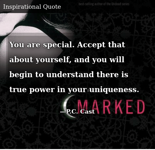 SIZZLE: You are special. Accept that about yourself, and you will begin to understand there is true power in your uniqueness.